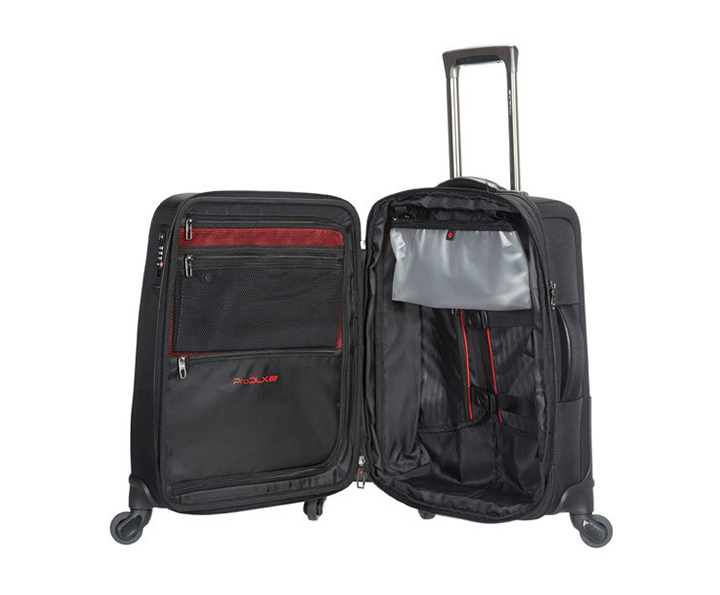 Samsonite Pro-DLX 4 Spinner 55cm/20inch Exp Black small | Samsonite