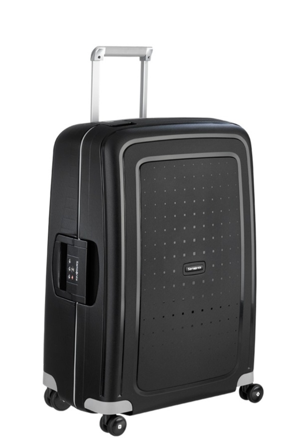 Samsonite S'Cure Spinner 75cm/28inch Black large | Samsonite
