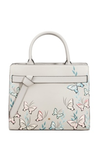 Samsonite My Samsonite Handbag Butterfly Light Grey Print medium | Samsonite