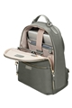 "Samsonite Karissa Biz Backpack 14.1"" Gunmetal Green small 