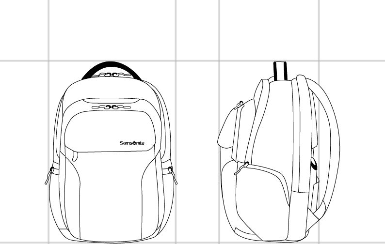 LP BACKPACK N2  dimension | Samsonite